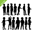 Kids silhouette vector image