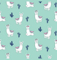 lama seamless pattern cute animal print vector image vector image