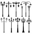 lamp post lamppost street polelight a set of vector image vector image