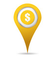 location money icon vector image vector image