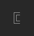 Logo C letter monogram mockup design element vector image vector image