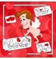Love cupid Valentine s Day vector image