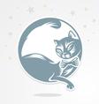lunar cat vector image