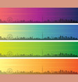melbourne multiple color gradient skyline banner vector image vector image