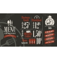 menu with bar price list vector image vector image