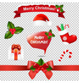 merry christmas icons and speech bubble vector image vector image