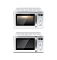 microwave oven isolated vector image