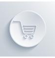 modern light shopping circle icon vector image vector image