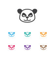 of zoo symbol on panda icon vector image vector image