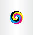 printing cmyk logo circle icon design vector image vector image