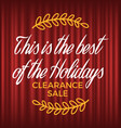 retail and promotion clearance sale ad vector image vector image