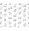 seamless pattern with animals icons vector image vector image