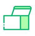 square opened cardboard carton box icon vector image vector image