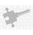 stencil of puzzle key vector image vector image