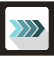 Striped gradient arrow icon flat style vector image vector image