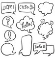 style text balloon collection stock vector image vector image