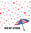 travel usa background love new york city pattern vector image