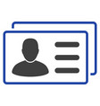 user cards flat icon vector image vector image