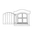 Vintage window vector image vector image