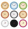wall clocks vector image vector image