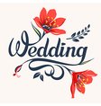 wedding calligraphic inscription vector image vector image