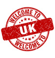 welcome to uk vector image vector image