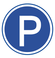 Parking sign on white background vector image