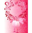 valentines vintage frame vector image