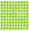 100 sport icons set green circle vector image vector image