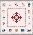 aim icon symbol elements for your design vector image vector image