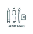 artist tools line icon artist tools vector image vector image