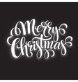 Black and White Christmas Card Merry Christmas vector image