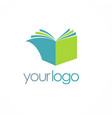 book knowledge logo vector image
