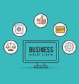 business flat line design vector image