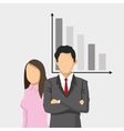 businessman and business woman with finance vector image