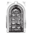 capitol door frame and hardware vintage engraving vector image vector image