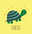 cartoon card with cute turtle vector image