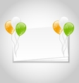 Celebration Card with Balloons vector image