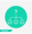choosing icon sign symbol vector image