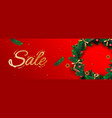 christmas sale banner holiday horizontal vector image vector image