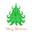 Christmas tree Marry Christmas card with vector image vector image