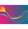 colorful flowing liquid thermal waves abstract vector image vector image