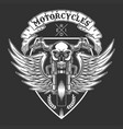 custom motorcycles badge vector image