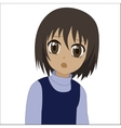 Cute cartoon anime little girl vector image vector image