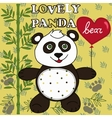 Cute Panda with heart vector image vector image