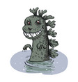 dinosaur emerges from the water vector image vector image