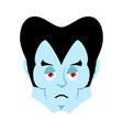 dracula sad emoji vampire sorrowful emotion face vector image vector image