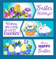 easter banners of pashcal greetings vector image vector image