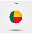 flag benin icon vector image