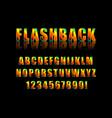 flashback retro type fon vector image